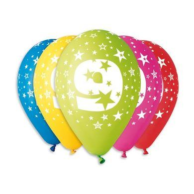 Balóny s číslom 9 Hviezdy