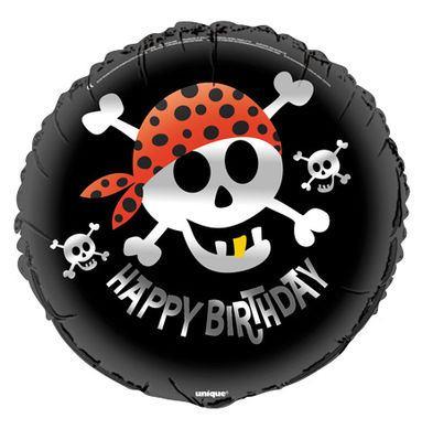 Fóliový balón Piráti Happy Birthday