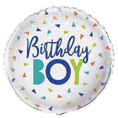 Fóliový balón Confetti Birthday Boy