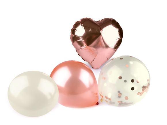 Nafukovacie balóniky sada ružová