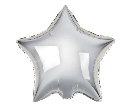 Fóliový balón hviezda strieborná