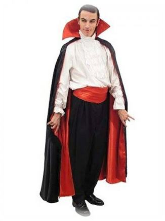 Plášť dracula dlhý červeno čierny de luxe