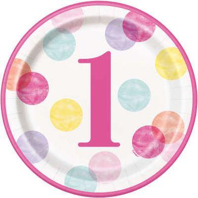 Tanierik veľký 1. narodeniny Dievčatko