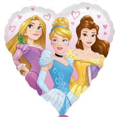 Fóliový balón srdce Disney Princezné
