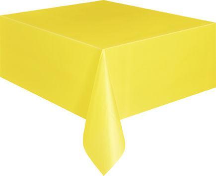 Obrus plastový žltý