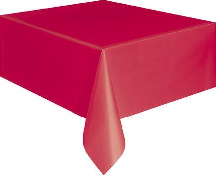Obrus plastový červený