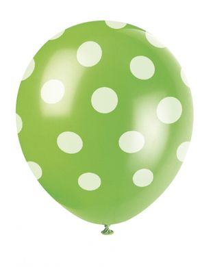 Balóny zelené bodky
