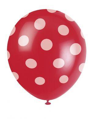 Balóny červené bodky