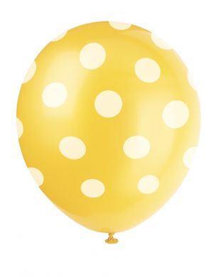Balóny žlté bodky