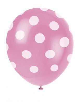 Balóny ružové  bodky