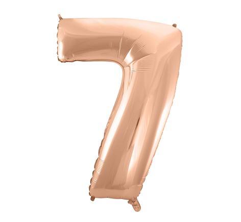 Fóliový balón č. 7 ružovo zlatý