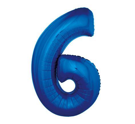 Fóliový balón č .6 modrý