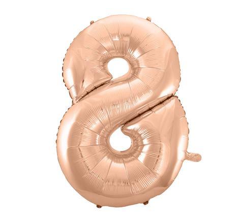 Fóliový balón č. 8 ružovo zlatý