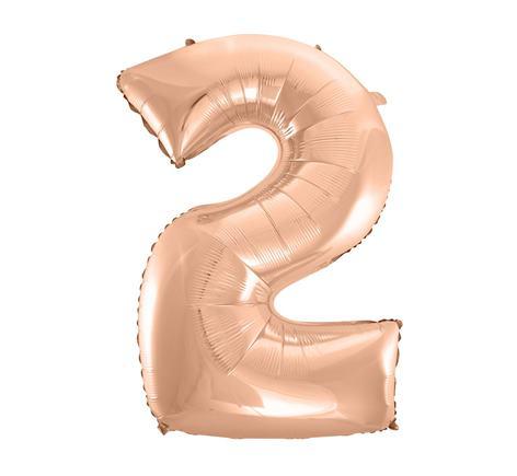 Fóliový balón č. 2 ružovo zlatý