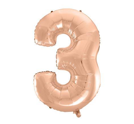 Fóliový balón č. 3 ružovo zlatý