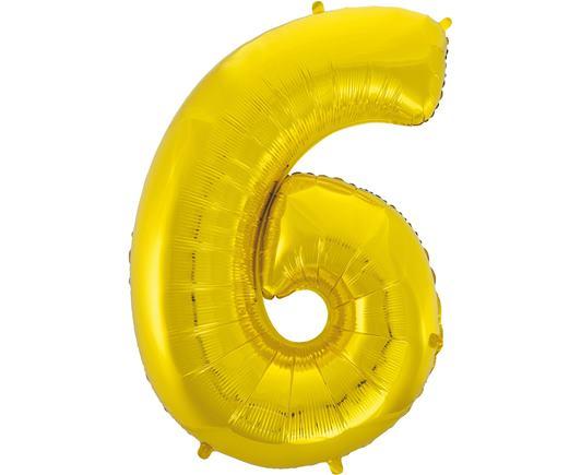 Fóliový balón 6 zlatý