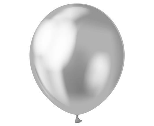 Balón saténový strieborný