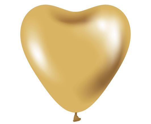 Srdiečko zlaté saténové