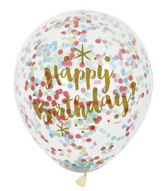 Balóny s konfetami narodeninové zlaté