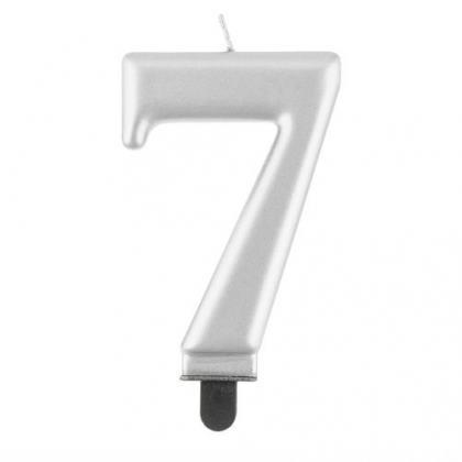 Sviečka č. 7 metalická