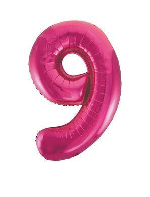 Fóliový balón č. 9 ružový