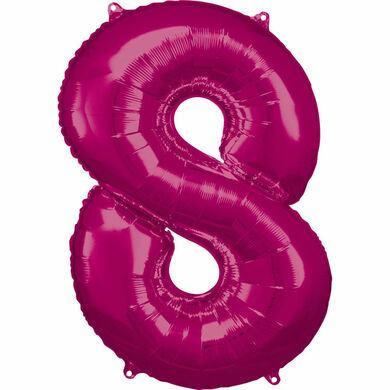 Fóliový balón č. 8 ružový