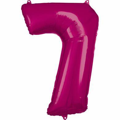 Fóliový balón č. 7 ružový