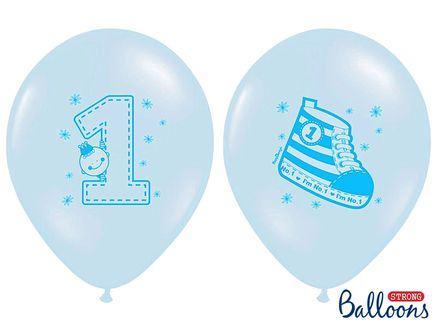 Balóny 1.narodeniny Sneaker modré