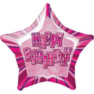 Balón hviezda pink