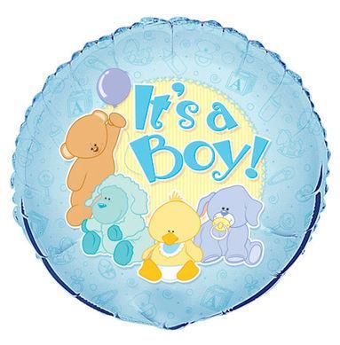 Fóliový balón It's a boy zvieratká