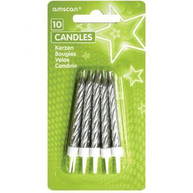 Sviečky glitter strieborné