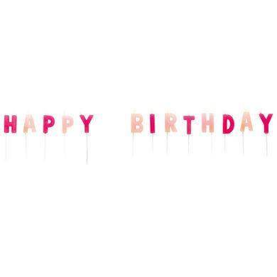 Sviečky Happy Birthday ružové