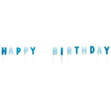Sviečky Happy Birthday modré