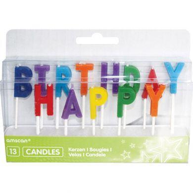 Sviečky Happy Birthday multi
