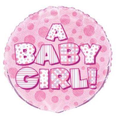 Fóliový balón Baby Girl Prism
