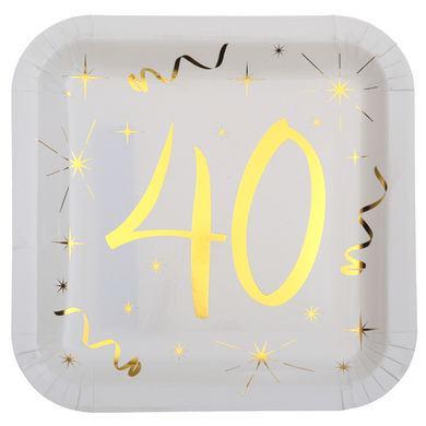 "Tanierik s číslom ""40"""