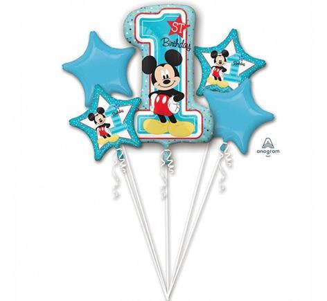Balónová kytica 1. narodeniny Mickey
