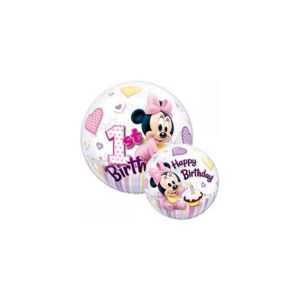 Balón guľa Minnie 1. narodeniny