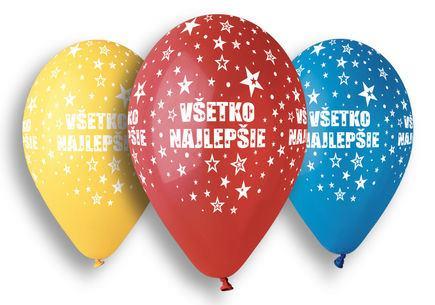 Balóny Všetko najlepšie 5 ks