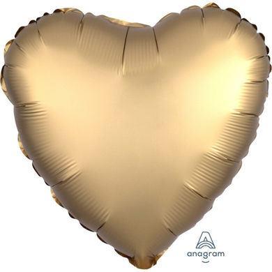 Fóliový balón srdce Satin Luxe zlatý