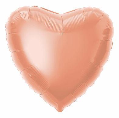 Fóliový balón srdce ružovo-zlaté