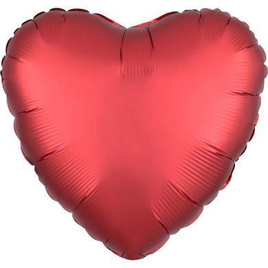 Fóliový balón srdce Satin Luxe červený