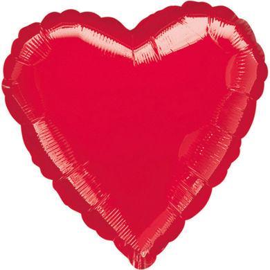 Jumbo balón metalické červené srdce