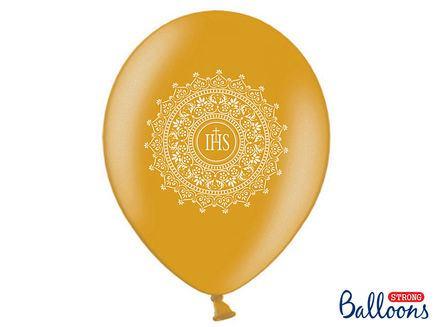 Balóny IHS Sväté prijímanie zlaté