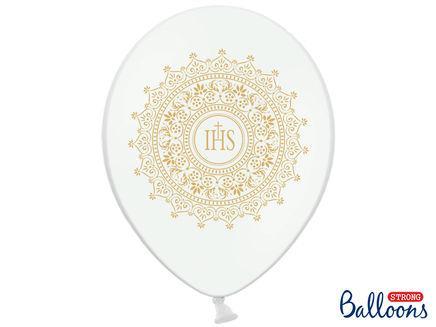 Balóny IHS Sväté prijímanie biele