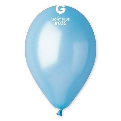 perleťový balón svetlomodrý
