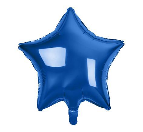Fóliový baló hviezda modrá