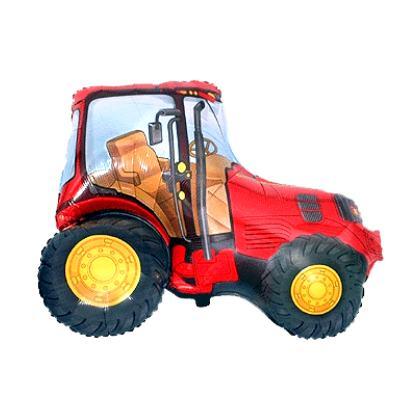 Balón traktor červený