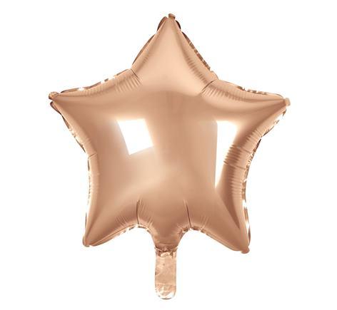 Fóliový balón hviezda rose gold