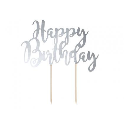 Ozdoba na tortu Happy Birthday rozmer: 22,5 cm